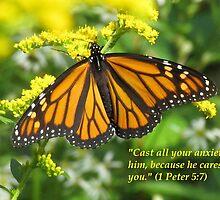 Hope Series: 1 Peter 5:7 by hummingbirds