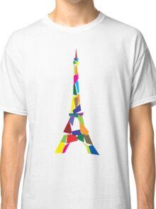 Eiffel tower abstract - Paris, France Classic T-Shirt