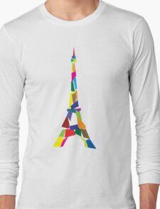 Eiffel tower abstract - Paris, France Long Sleeve T-Shirt