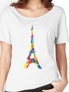 Eiffel tower abstract - Paris, France Women's Relaxed Fit T-Shirt