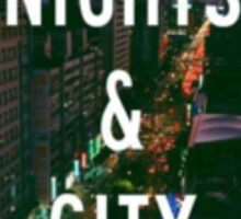 Summer Nights City Lights Sticker