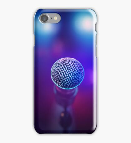 Musical Microphone on stage iPhone Case/Skin