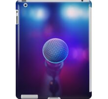 Musical Microphone on stage iPad Case/Skin