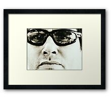 don't let your stepson eat the fish... Framed Print