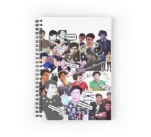 Danisnotonfire and AmazingPhil Collage Spiral Notebook