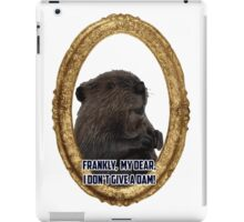 Gone with the beaver iPad Case/Skin