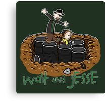 Walt and Jesse Canvas Print