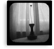 Vase Silhouette B&W TTV Canvas Print