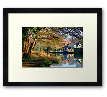 Winter Morning on the Wey Framed Print