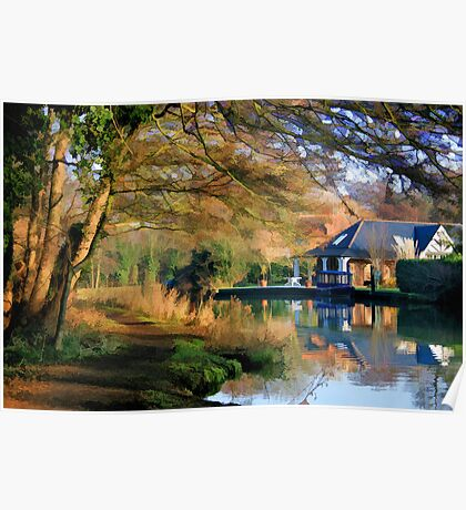 Winter Morning on the Wey Poster