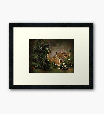 Bożków Castle...1890 y Framed Print