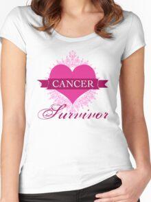 Cancer Survivor Women's Fitted Scoop T-Shirt