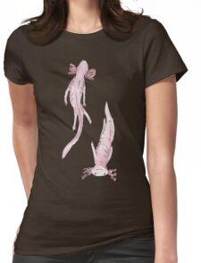 Axolotl friends Womens Fitted T-Shirt