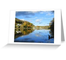 Cornwall: Autumn Reflections at Lerryn Greeting Card