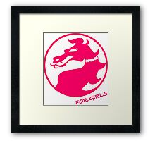 Mortal Kombat for Girls Framed Print