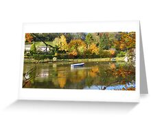 Cornwall: Autumn Colours on the River Lerryn Greeting Card