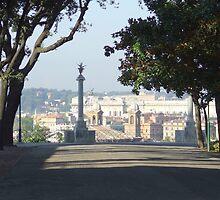 Rome from Villa Borghese by exvista