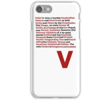 V for Vendetta- V Speech iPhone Case/Skin