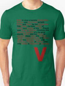 V for Vendetta- V Speech T-Shirt