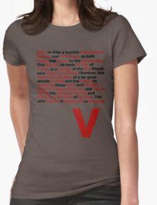 V for Vendetta- V Speech Womens Fitted T-Shirt
