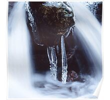 Icicles in a cascade Poster