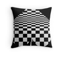 club optical illusion Throw Pillow