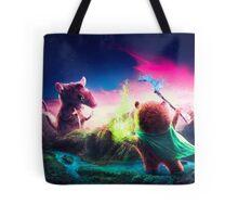 Knife Rat vs Wizard Bear Tote Bag
