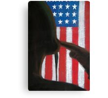 Stand Strong: American Patriot Canvas Print