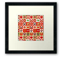 Sweet Christmas Pugs 3 Framed Print