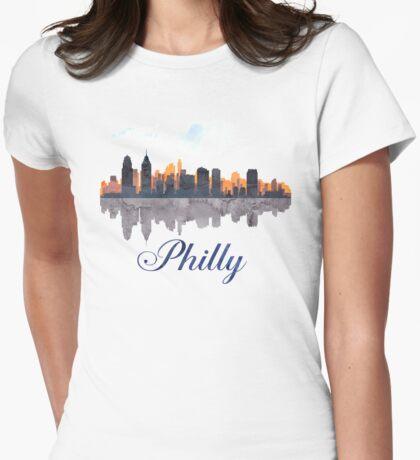 Philadelphia Skyline, Pennsylvania, Watercolor T-Shirt