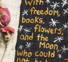 Freedom, Books, Flowers, and the Moon Sticker