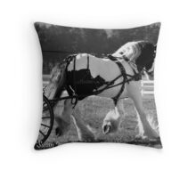 Beauty in Black and White Throw Pillow