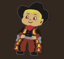 Retro cute Kid Billy Cowboy tee by patjila