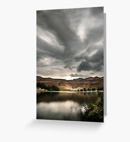 Drakensberg storm clouds, Kwazulu Natal, South Africa Greeting Card