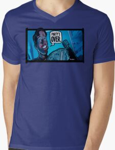 Party's Over Dead Alive Mens V-Neck T-Shirt