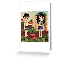 Poi, Haka and Kumara Greeting Card