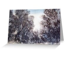 Morning Snow, Thredbo, Australia Greeting Card