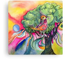 Bird inna tree Canvas Print