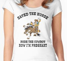 Funny Pregnant Women's Fitted Scoop T-Shirt