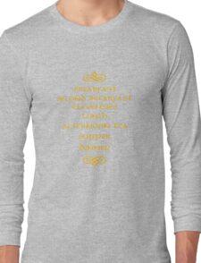Hobbit Meals Long Sleeve T-Shirt