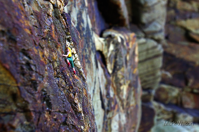Rock Climber by Mark Wilson