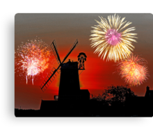 Cley Fawkes Night Canvas Print