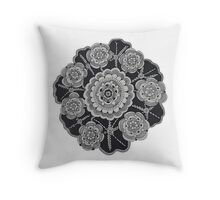 The Lotus Circle Throw Pillow