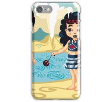 Poi and Haka in Geyserland, New Zealand iPhone Case/Skin