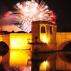 St Ives Bridge fireworks by Rachel Slater