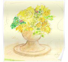 Fleurs Pour Margaret Poster