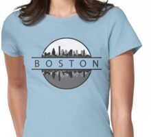 Boston Massachusetts Womens Fitted T-Shirt