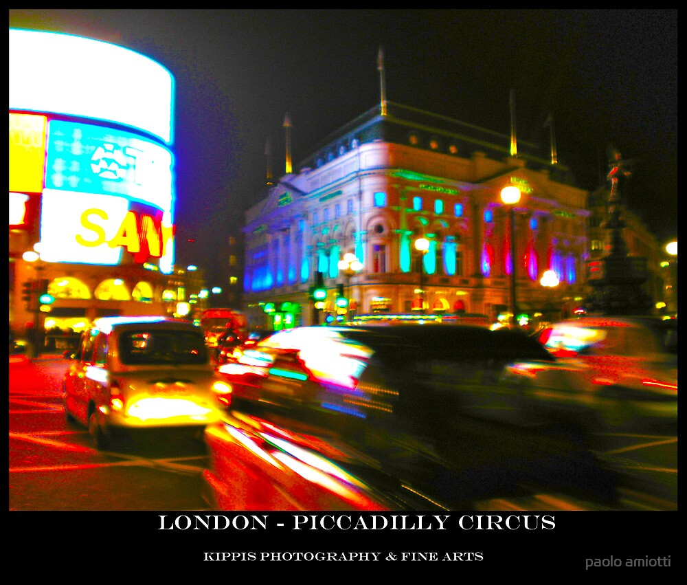 piccadilly circus by paolo amiotti