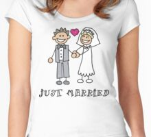 "Wedding Day ""Just Married"" Women's Fitted Scoop T-Shirt"