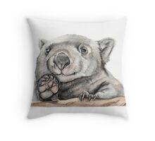 Lucy the Wombat Throw Pillow